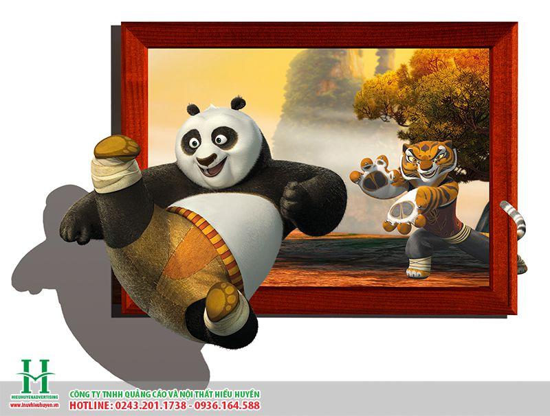 tranh dán tường động vật hình con gấu