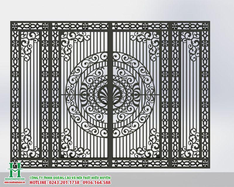 Cắt CNC trên sắt làm cổng sắt đẹp