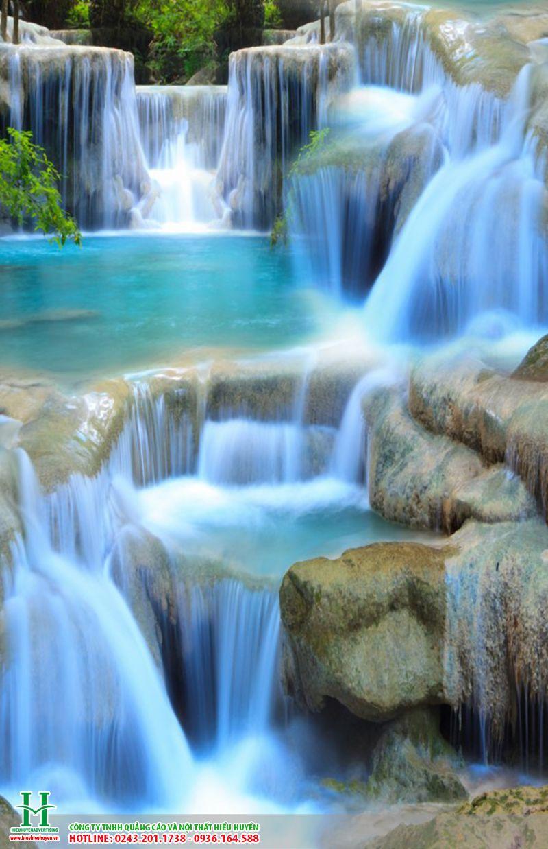tranh gạch thác nước ốp tường đẹp cho mọi không gian