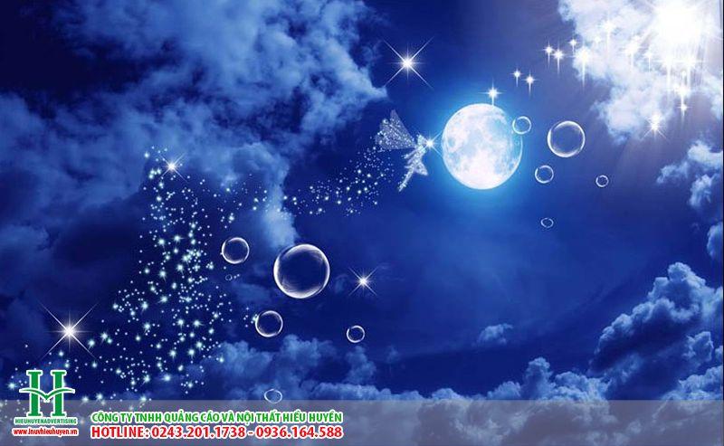 Trần xuyên sáng in bầu trời đêm