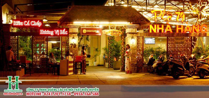 Biển quảng cáo nhà hàng đẹp nhất Hà Nội