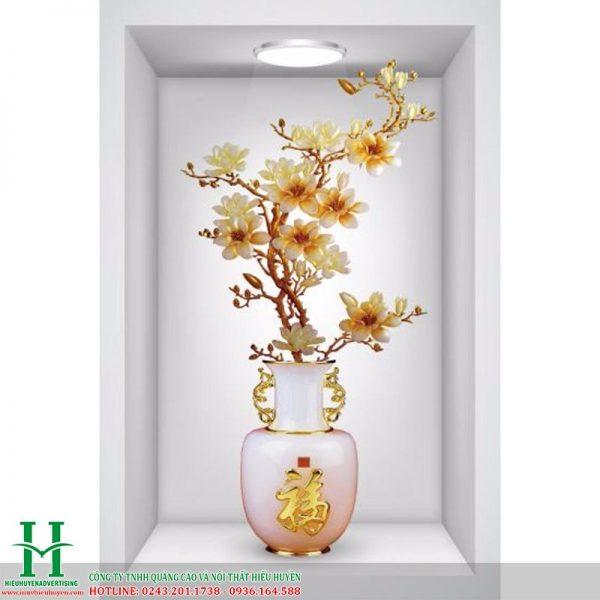 Tranh 3D bình hoa đẹp nhất