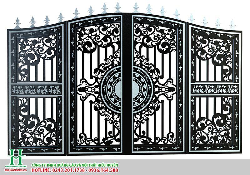 mẫu cắt CNC làm cổng sắt đẹp tại Hà Nội