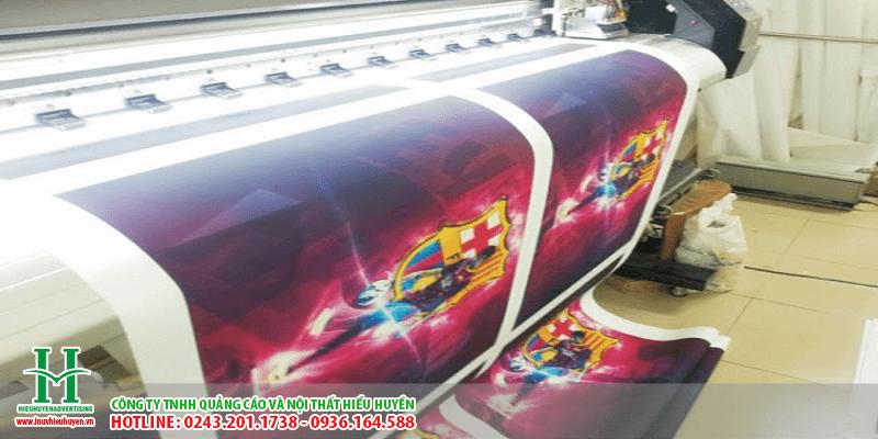 In UV silk, dịch vụ in UV cuộn lên vải silk tại Hiểu HUyền