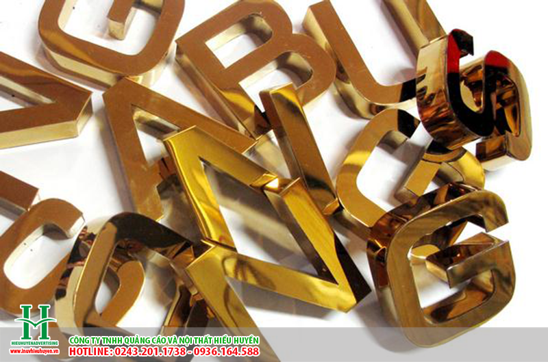 cắt CNC chữ inox vàng
