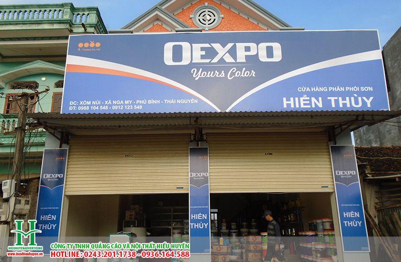 Biển quảng cáo cửa hàng bạt hiflex
