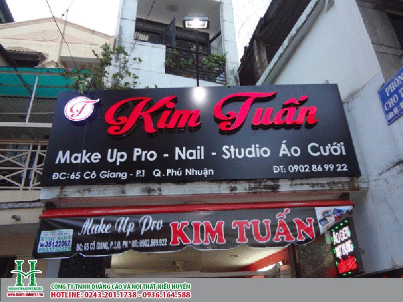 Biển quảng cáo cửa hàng chữ nổi alu