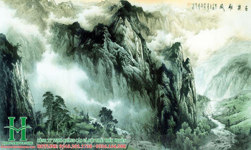 Tranh 3D núi nong hùng vĩ