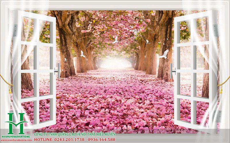 Những bức tranh 3D hoa đào đẹp nhất