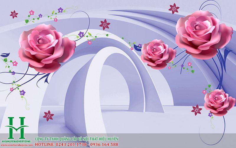 Tranh 3D hoa hồng đẹp nhất Hà Nội