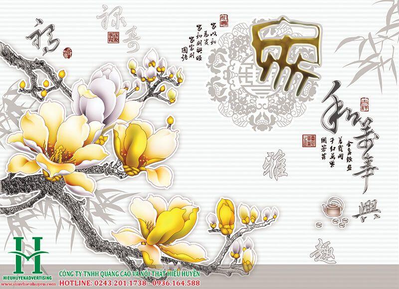 Tranh 3D hoa lan đẹp nhất