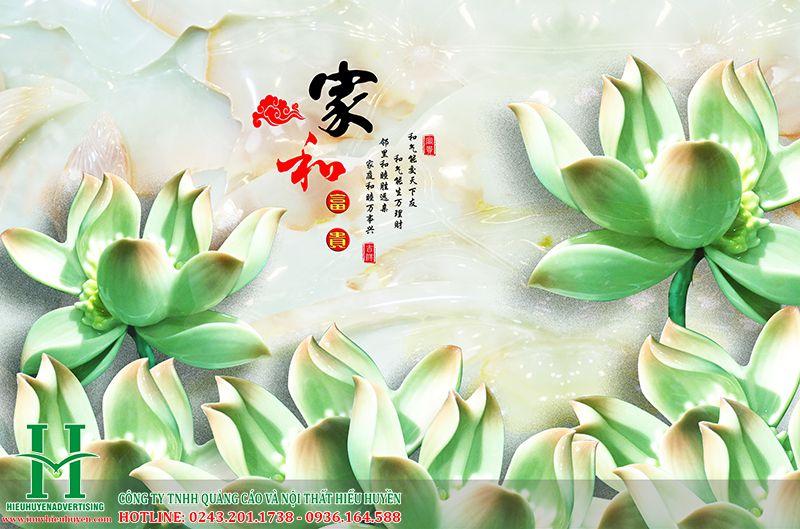 Tranh 3D hoa sen đẹp nhất