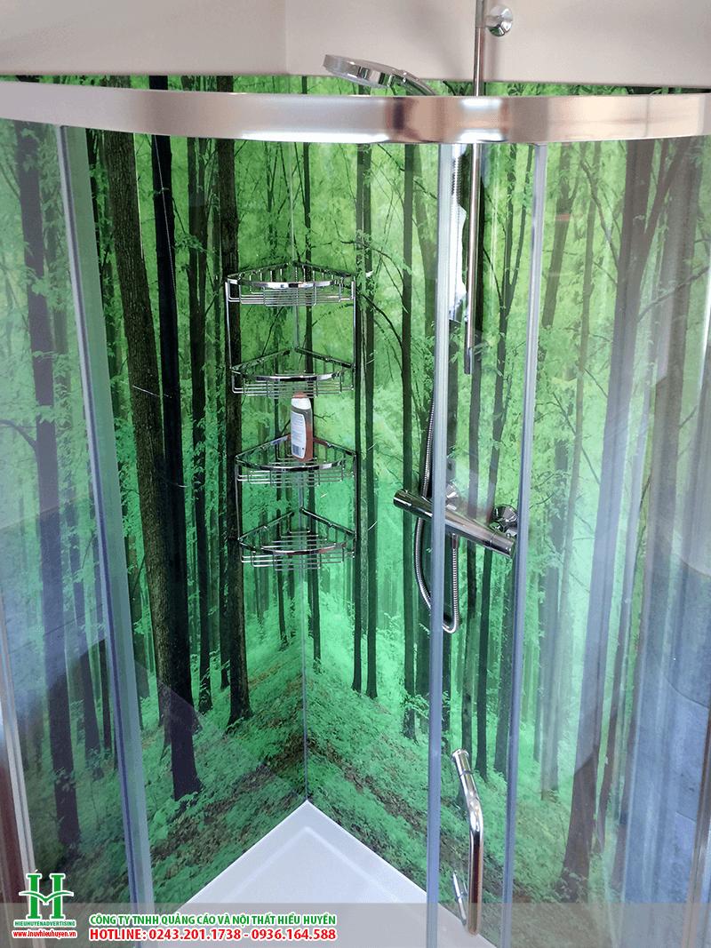 In UV lên kính cửa lùa phòng tắm
