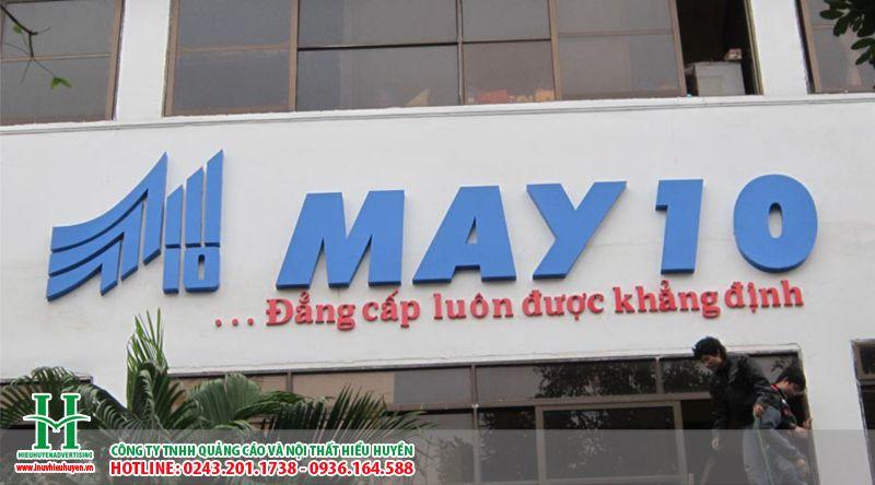 Làm biển quảng cáo chữ nổi mica cho công ty may