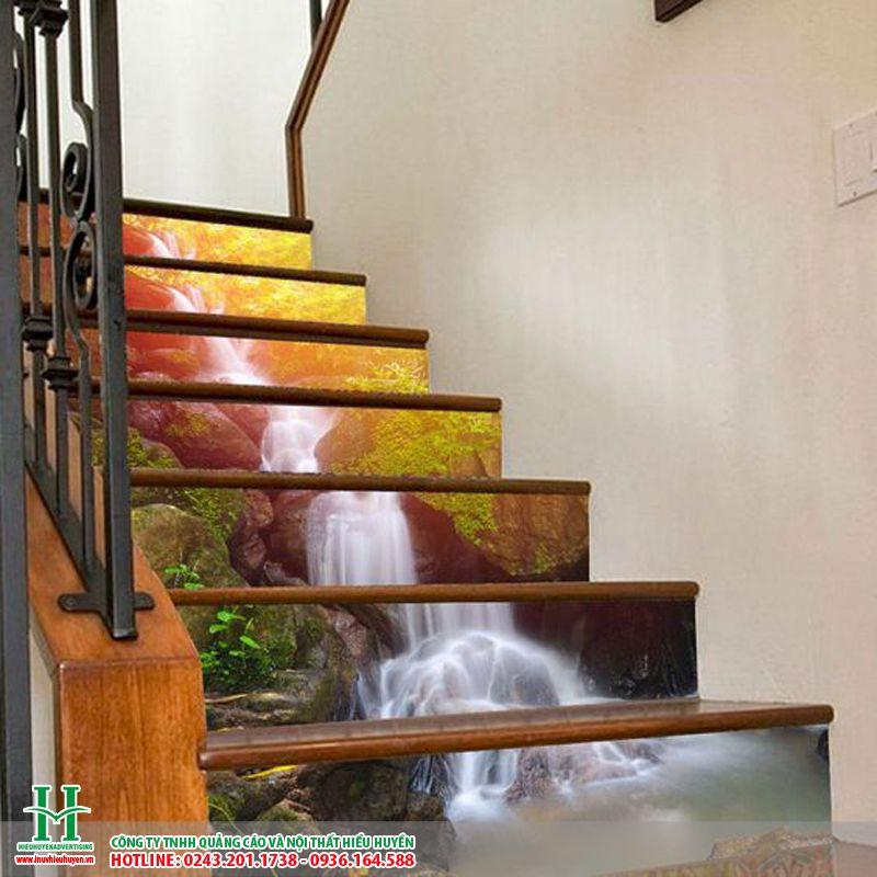 Gạch 3D ốp cầu thang đẹp nhất